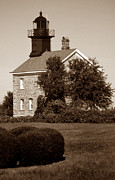Pictures Of Lighthouses Prints - Old Field Point Light Print by Skip Willits