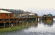 Fishermans Wharf Prints - Old Fishermans Wharf - Monterey Bay Print by Linda  Parker