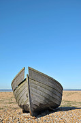 Neglect Prints - Old Fishing Boat At Dungeness Print by John Gomez