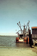 Fishing Shack Prints - Old Fishing Boat Print by Colleen Kammerer