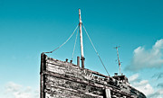 Wooden Ship Posters - Old fishing boat Poster by Tom Gowanlock