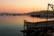 Kiril Stanchev Acrylic Prints - Old Fishing Harbor on Black Sea Acrylic Print by Kiril Stanchev