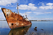 Trawler Photos - Old fishing ship wreck by Jose Elias - Sofia Pereira