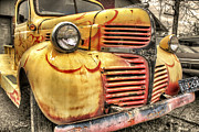 Jason Politte Prints - Old Flames - Antique Dodge Truck Print by Jason Politte