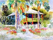 Florida House Paintings - Old Florida House  by Joan Dorrill