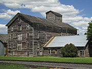 Wooden Building Posters - Old Flour Mill 1890 - Oakesdale Washington Poster by Daniel Hagerman