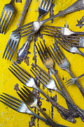Kitchenware Posters - Old Forks Poster by Garry Gay