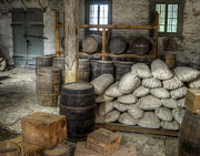 Old Fort Commissary Print by James Barber