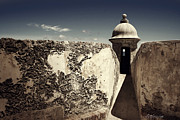 Caribbean Fort Prints Posters - Old Fort in Old San Juan Poster by Darlene Konieczny