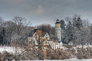 Old House Photographs Framed Prints - Old Fort Niagara Lighthouse Framed Print by Michael Allen