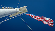 Flagpole Photos - Old Fort Smith Standard by James Barber