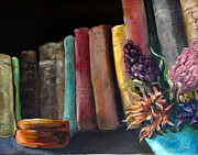 Interior Still Life Paintings - Old Friends by Diane Kraudelt