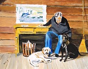 Sports Art Paintings - Old Friends by Judy Kay