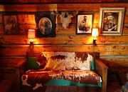 Cabin Interiors Photo Prints - Old Frontier Cabin Print by John Malone