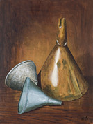 Old Relics Painting Prints - Old Funnels Print by Garry McMichael