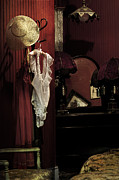Coat Rack Photos - Old Galveston Hotel Bordello Room by Angela Bonilla