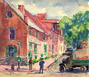 Fire Hydrants Prints - Old Georgetown DC 1910 Print by Padre Art