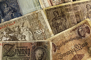 Antik Prints - Old German Banknotes Print by Falko Follert