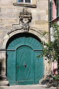 Bamberg Photos - Old German Door  by Christiane Schulze