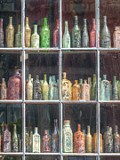 Antique Bottles Art - Old Glass by Brenda Bryant