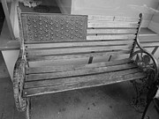 50 Stars Posters - Old Glory Bench in Philadelphia Poster by Richard Reeve