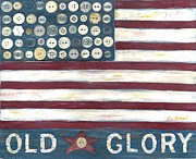 Old Glory Print by Carol Neal