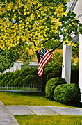 Front Porch Prints - Old Glory Print by Dave Hasler