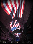 Vegs Prints - Old Glory in Vegas Print by John Malone