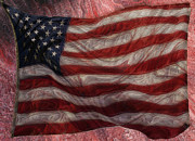 Printed Digital Art Prints - Old Glory Print by Jack Zulli