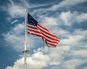Flagpole Photos - Old Glory by James Barber
