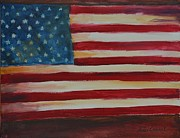 Old Glory Paintings - Old Glory by Terri Cowart