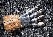 Chevalier Metal Prints - Old glove of a medieval knight Metal Print by Matthias Hauser