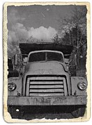 Gmc Mixed Media Posters - Old GMC Truck BW 2 Poster by Chalet Roome-Rigdon
