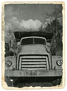 Gmc Mixed Media Posters - Old GMC truck BW Poster by Chalet Roome-Rigdon