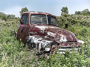 Old Pickup Photos - Old GMC Truck by Olivier Le Queinec