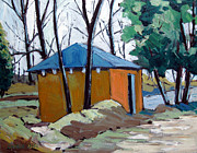 Old Golf Course Shed No.5 Print by Charlie Spear