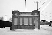 Sask Prints - old government telephones telephone exchange building Kamsack Saskatchewan Canada Print by Joe Fox