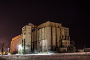 Winter Train Images Prints - Old Grain Elevators Print by Jakub Sisak