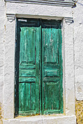 Oak Desk Prints - Old green door Print by Patricia Hofmeester