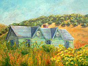 Old Age Painting Originals - Old Green House on the Hill by Terry Taylor