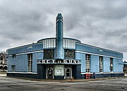 Julie Riker Dant Artography Art - Old Greyhound Bus Terminal  by Julie Dant