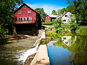 Red Buildings Posters - Old Grist Mill  Poster by Colleen Kammerer