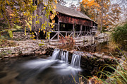 Old Mills Photos - Old Grist Mill - Macedonia Connecticut  by Thomas Schoeller