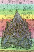 Fir Trees Drawings - Old Growth Magic by Mag Pringle Gire