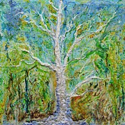 Deforestation Paintings - Old Growth by Regina Valluzzi