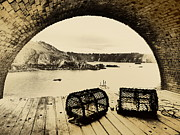 Sepia And Cream Framed Prints - Old Guernsey Framed Print by Paul Clavel