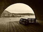 Sepia And Cream Framed Prints - Old Guernsey Sepia Framed Print by Paul Clavel