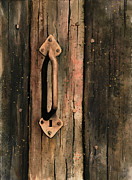 Rust Painting Prints - Old Handle Print by Sam Sidders