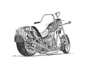 Sonny Perschbacher - Old Harley Motorcycle