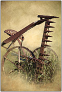 Machinery Metal Prints - Old Harrow Metal Print by Heiko Koehrer-Wagner